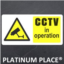 CCTV in Operation Sticker,Safety,Security,Door,Home,Office,Recording,Camera,Sign 80x40mm
